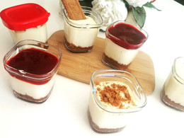 Cheescake speculoos au coulis de fruits rouges