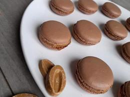 Macarons chocolat Dulcey