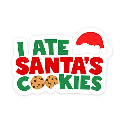 I ATE SANTA'S COOKIES TEXT ADD ON