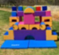 Little Monkeys Party Hire Soft play builder set