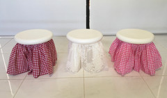 Farm and lace stool skirts
