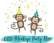 Logo Little Monkeys Party Hire PNG LARGE