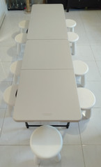 Table and 10 stool set