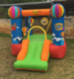 Little Monkeys Party Hire Hot Air Balloon Bouncy Castle