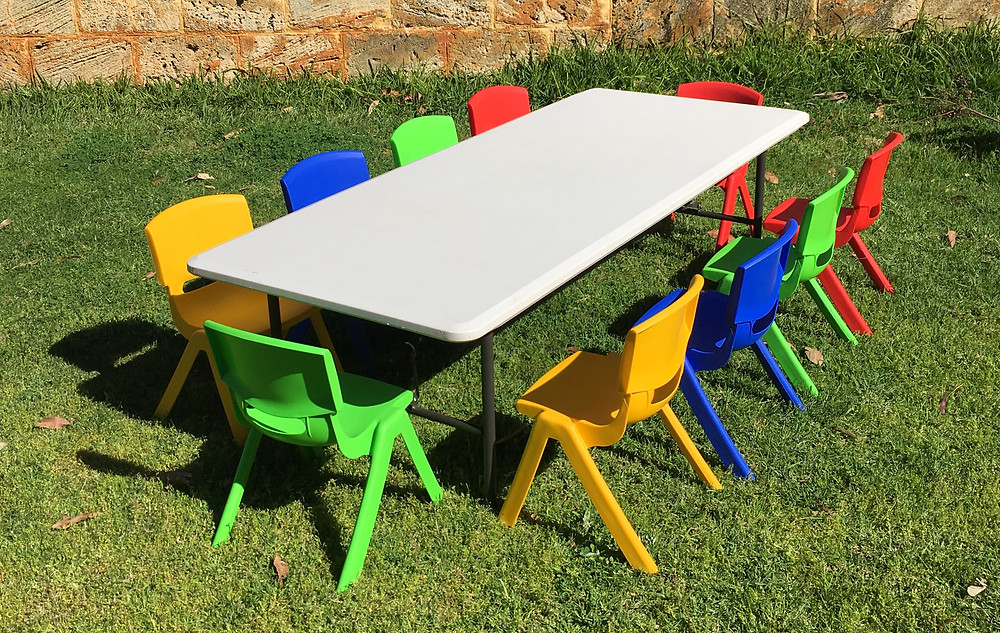 Kids Table and Chair hire perth