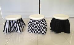 Black stool skirts