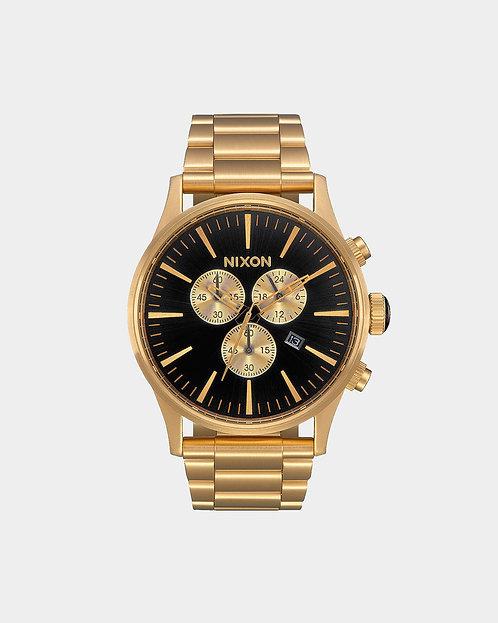 Nixon 42 mm Sentry Chrono Watch All Gold / Black