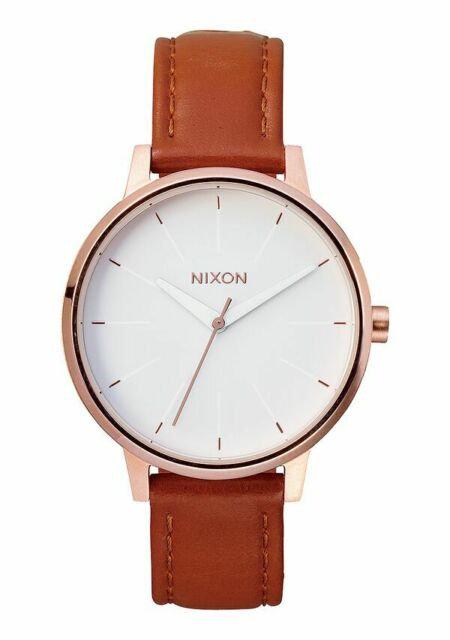 NIxon Kensington Leather , 37 mm Rose Gold / White