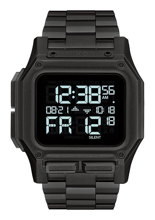Nixon 46 mm Regulus Stainless Steel Watch All Black