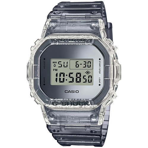 Casio G-Shock DW5600 Skeleton Classic - Clear Grey