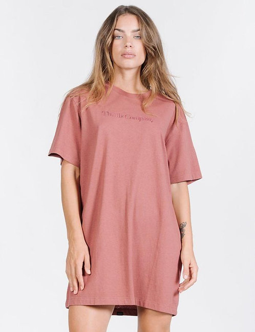 THRILLS TONAL SERVICE MERCH DRESS - FADED RED