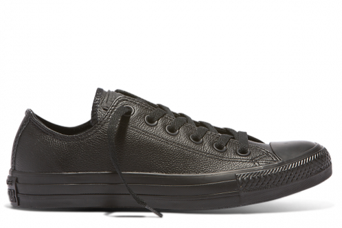 Converse Chuck Taylor All Star Leather Low Top -  Black Mono
