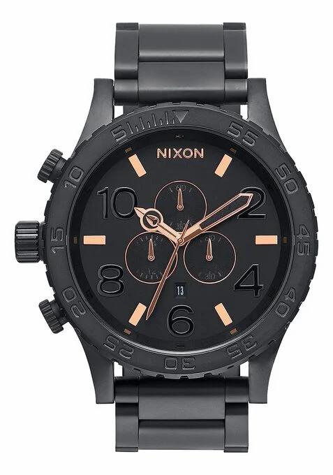 Nixon - 51-30 Chrono Watch All Black / Rose Gold