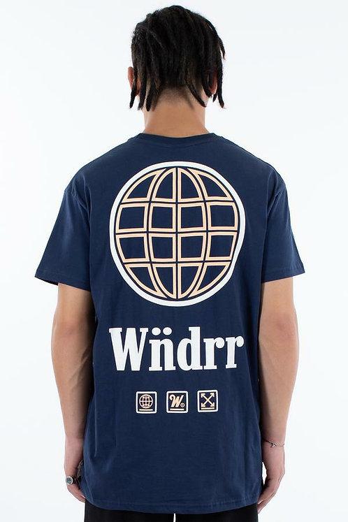 WNDRR Orbit Tee - Navy
