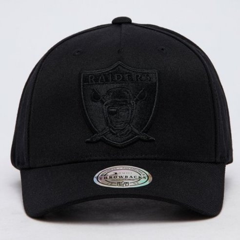 Mitchell & Ness NFL Las Vegas Raiders All Black Logo 110 Snapback