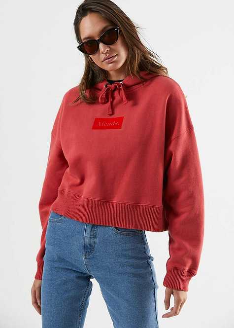 Afends back roads hoodie - Dusty red