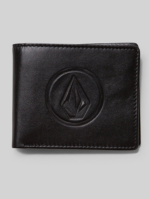 VOLCOM - DOUBLE STONE LEATHER WALLET