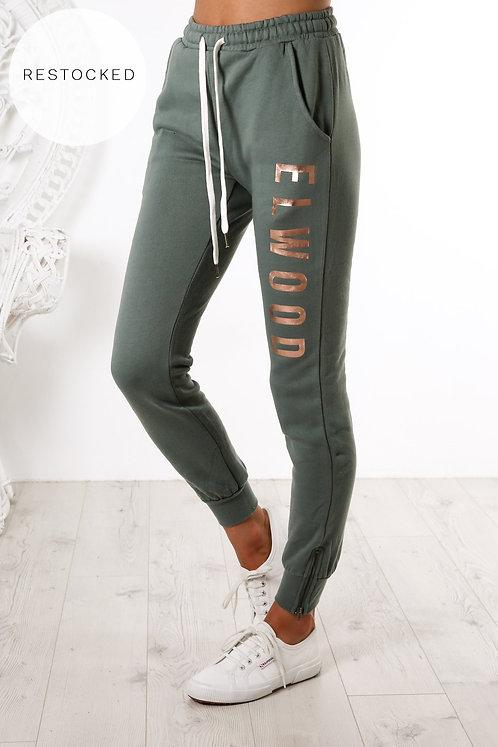 ELWOOD Huff N Puff Track Pants - Olive