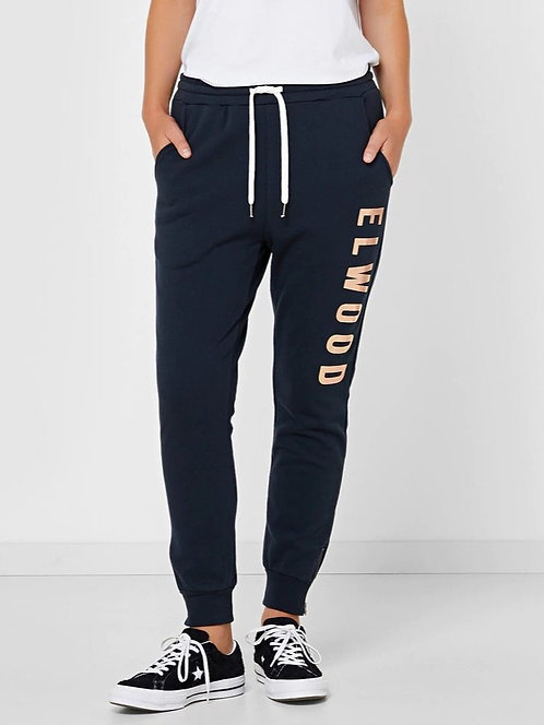 ELWOOD WOMENS HUFF N PUFF TRACKPANT NAVY/GOLD