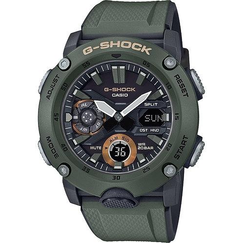 Casio G-Shock Analogue/Digital Carbon Core Guard Green Men's Watch GA2000-3A GA-