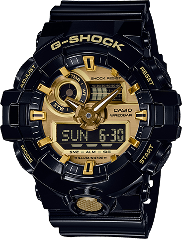 Casio G-Shock Watch GA710GB-1A Black/Gold