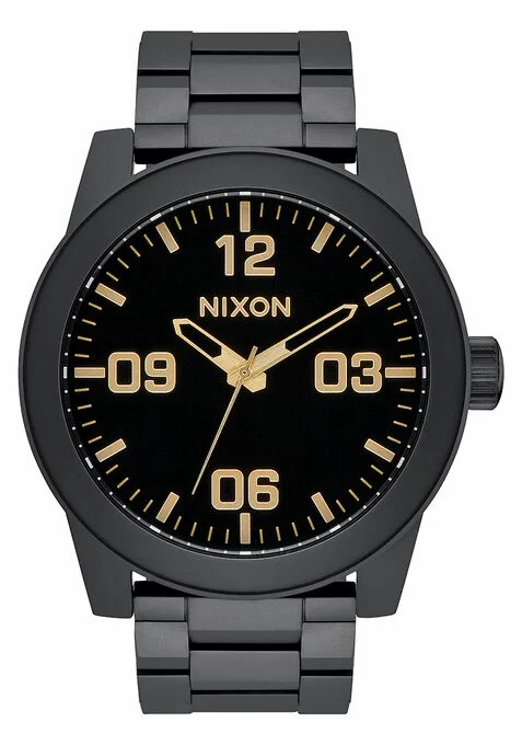 Nixon - Corporal Stainless Steel Watch Matte Black / Gold