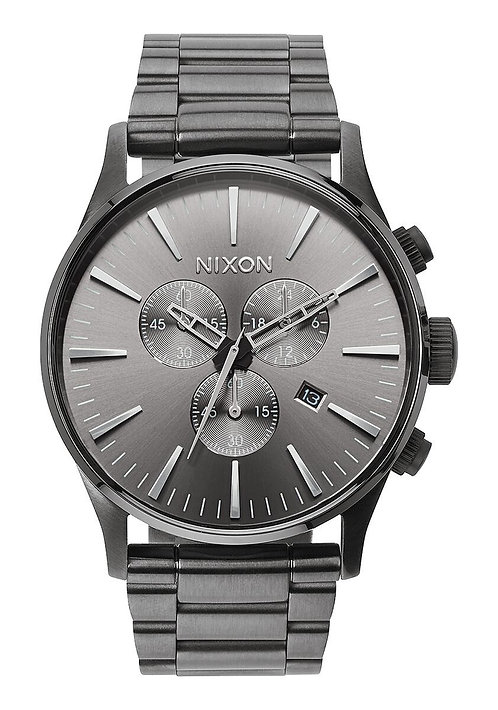 Nixon 42 mm Sentry Chrono Watch All Gunmetal