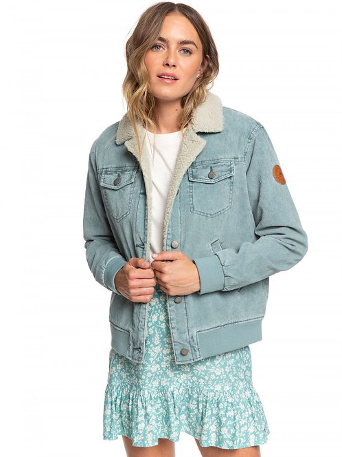 ROXY Desert Sands Cord Sherpa Lined Trucker Jacket
