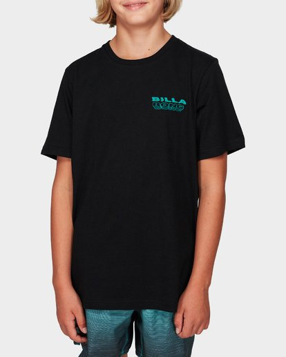 Billabong Boys Under Cut Tee - Black/Blue