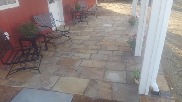 Multicolored Square and Rectangle Patio Stone