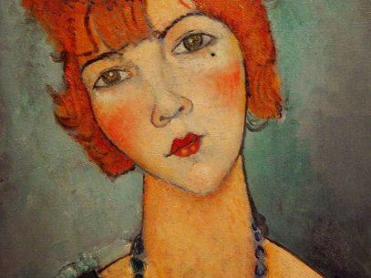 donna con collana -1917