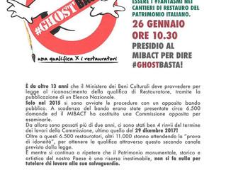 A Roma venerdì 26 Gennaio ci saremo anche noi!