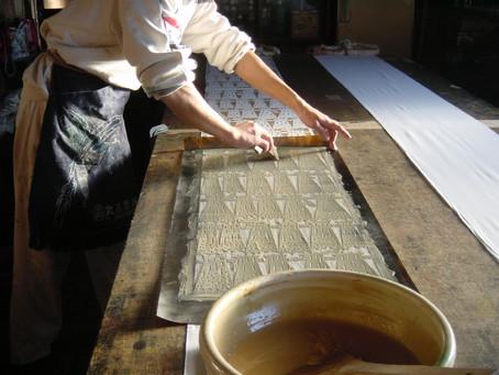 Katazome Workshop Torino - antica tecnica giapponese di tintura