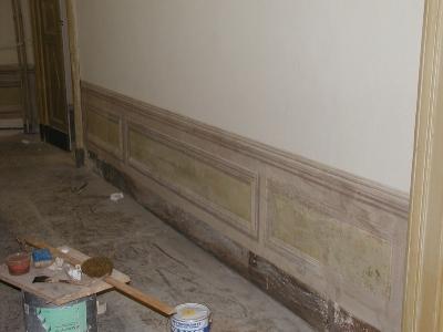 restauro pareti dipinte