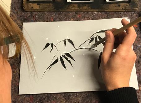 il bambù e la neve - pittura zen workshop