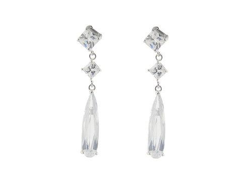 Bridal Baguette Earrings
