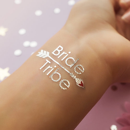 2 PACK Bride Tribe Arrow - Silver