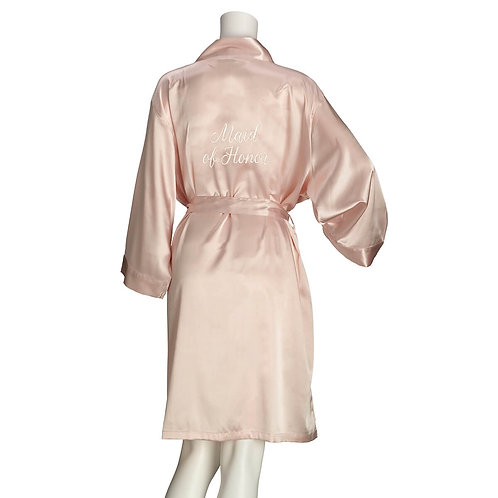 Lillian Rose Blush Satin Maid of Honor Robe