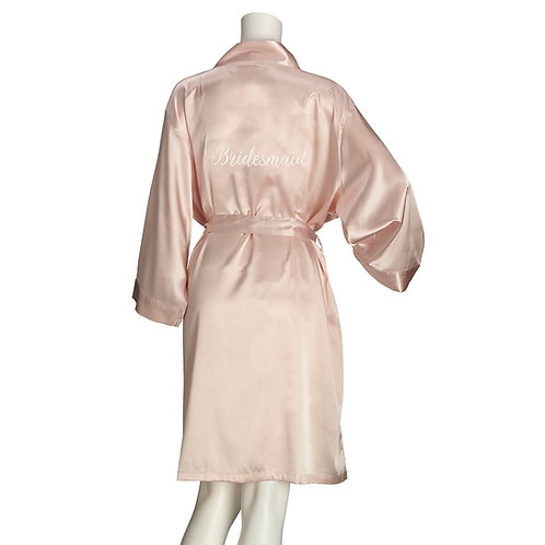 Lillian Rose Blush Satin Bridesmaid Robe