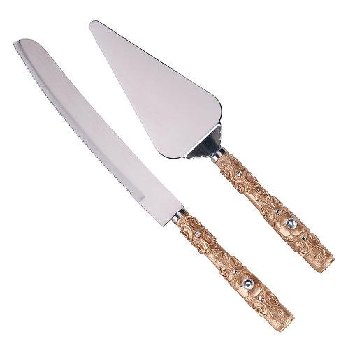 Lillian Rose Gold Knife and Server Set