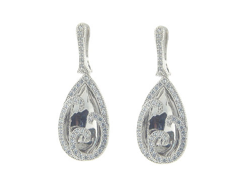 Bridal CZ Reflection Earrings
