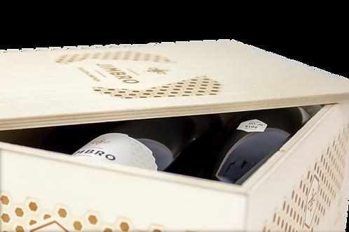RED WINE WOOD CASE | BRUÑAL 2016 | 6 BOTTLES x 75cl