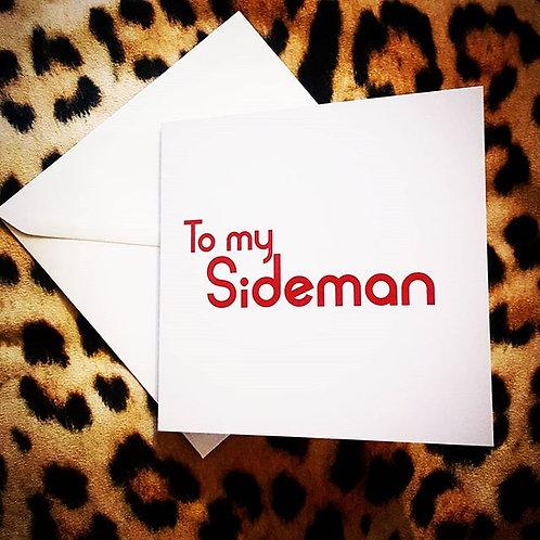 SIDEMAN CARD