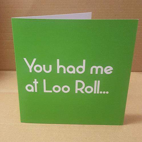 LOO ROLL CARD