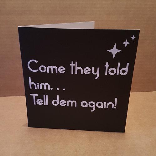 COME CARD