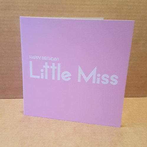 LITTLE MISS HB CARD