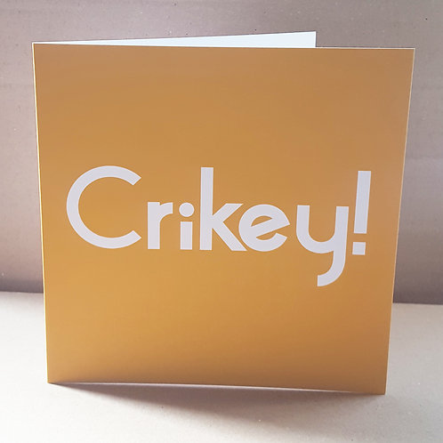 CRIKEY CARD