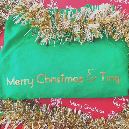 MERRY CHRISTMAS & TING JUMPER