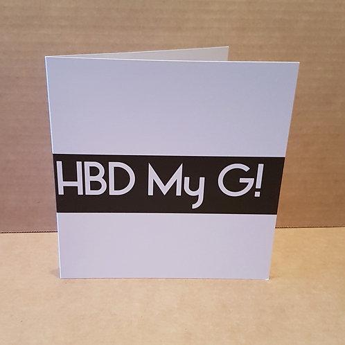 HBD MY G CARD