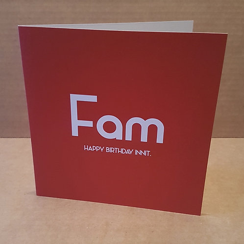 FAM HB INNIT CARD